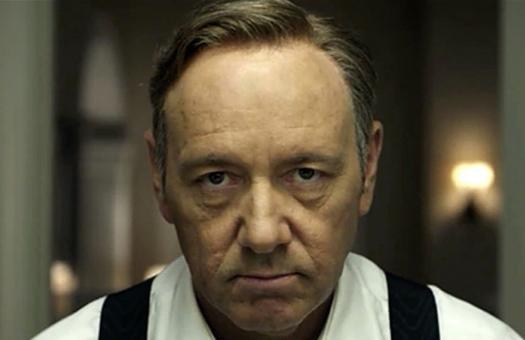 Primo piano di Frank Underwood in un frame di House of Cards